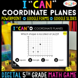 5th Grade Math Game DIGITAL | Graphing Coordinate Planes |