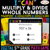 5th Grade Math Game DIGITAL | Multiplication & Division | Distance Learning
