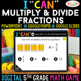 5th Grade Math Game DIGITAL Multiplying & Dividing Fractions | Distance Learning