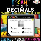 5th Grade Math Game DIGITAL   Operations with Decimals   D