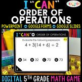 5th Grade Math Game DIGITAL   Order of Operations   Distan