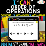 5th Grade Math Game DIGITAL | Order of Operations | Distan