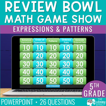 Expressions and Patterns Game Show | 5th Grade