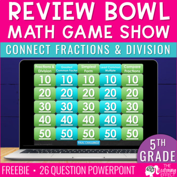 Connect Fractions and Division Review Bowl freebie