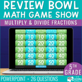Multiply and Divide Fractions Game Show 5th Grade   Distan
