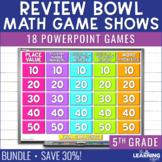 5th Grade Math Game Show Review | BUNDLE