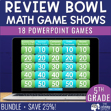 5th Grade Math Game Review   BUNDLE