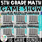 5th Grade Math Game Show Bundle | Review Games | Test Prep