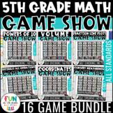 5th Grade Math Game Show Bundle | Review Games | Test Prep