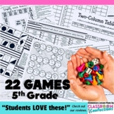 5th Grade Math Games: 22 Game Bundle: 5th Grade Math Cente