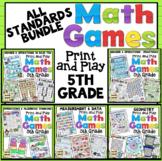 5th Grade Math Games: All Standards Bundle