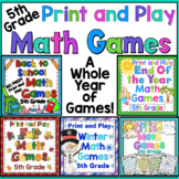 5th Grade Math Games For the Entire Year - Math Game Mega Bundle
