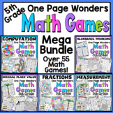 5th Grade Math Games - One Page Wonders 5th Grade Math Centers