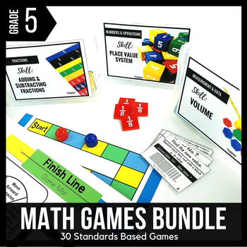 5th Grade Math Centers | 5th Grade Math Games BUNDLE - Ready Set Play
