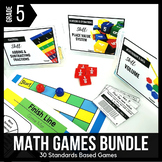 5th Grade Math Games and Centers BUNDLE - Ready Set Play