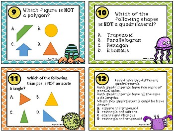 5th Grade Math Geometry Task Cards