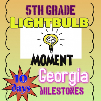 5th Grade Math Georgia Milestones Review/Practice - 10 Days of Questions