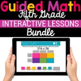 5th Grade Math Google Classroom Digital Bundle (For Distan