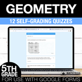5th Grade Math Google FORMS - Geometry: 12 Paperless Activities
