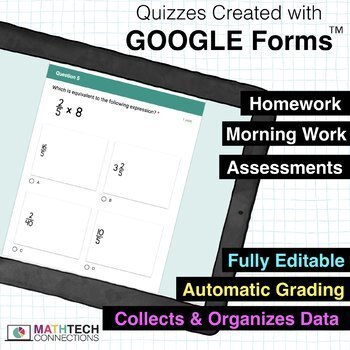 5th Grade Math Google FORMS Bundle of Assessments