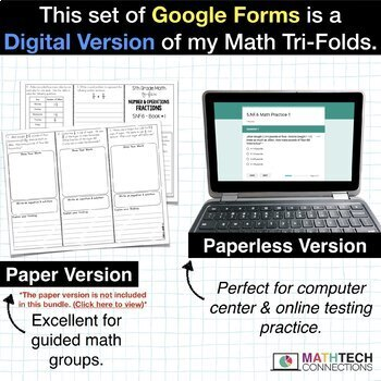 5th Grade Math Google FORMS   Assessments for Google Classroom Distance Learning