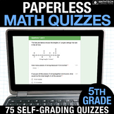 5th Grade Math Google FORMS Assessments for Google Classroom Math Test Prep