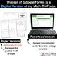 5th Grade Math Google FORMS - Measurement & Data: 12 Paperless Activities