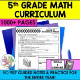 5th Grade Math Guided Notes