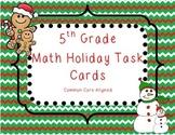 5th Grade Math Holiday Task Cards