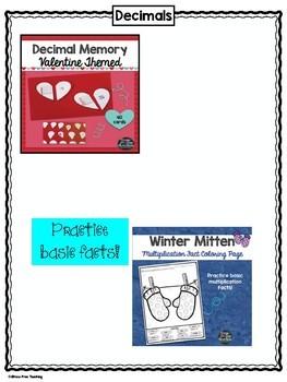 5th Grade Math Holiday Themed Bundle