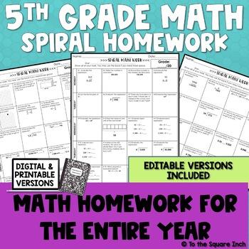 5th Grade Math Homework