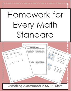 5th Grade Math Homework for the Year
