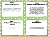 "5th Grade Math ""I CAN"" Statements for Common Core State Standards (Fifth)"
