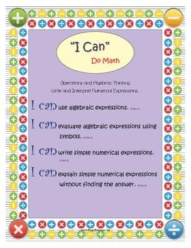 "5th Grade Math: ""I Can"" Statements"