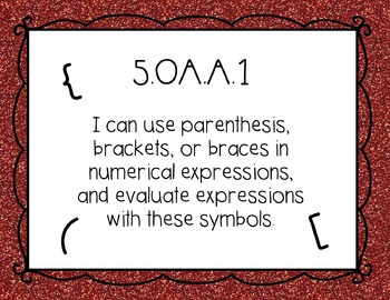 5th Grade Math I Can Statements by Fifth Grade Fab | TpT