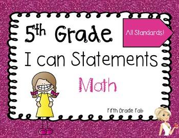 5th Grade Math I Can Statements