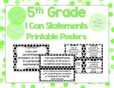 5th Grade Math I Can Statements for CCSS Standards (Black Dots)