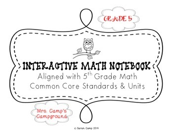 5th Grade Math Interactive Notebook ALL COMMON CORE UNITS BUNDLE
