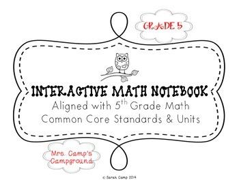 5th Grade Math Interactive Notebook ALL COMMON CORE UNITS BUNDLE