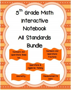 5th Grade Math Interactive Notebook: All Standards