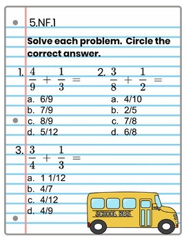 5th Grade Math Interactive Notebook, All Standards: Interactive Notebook, Math