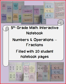 5th Grade Math Interactive Notebook: Common Core NF.1 Standard