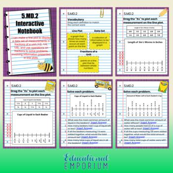 5th Grade Math Interactive Notebook, Digital + Paper: All Standards: Google, PDF
