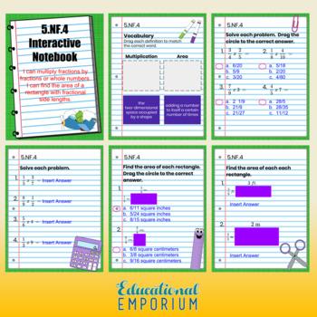 5th Grade Math Interactive Notebook, Digital + Paper (Google & PDF Formats)