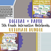 5th Grade Math Interactive Notebook ⭐Digital and Paper⭐ Google™ and PDF Formats
