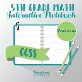 5th Grade Math Interactive Notebook: Fractions Interactive Notebook, Math, 5th
