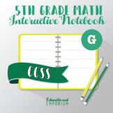 5th Grade Math Interactive Notebook: Geometry Interactive Notebook, Math, 5th