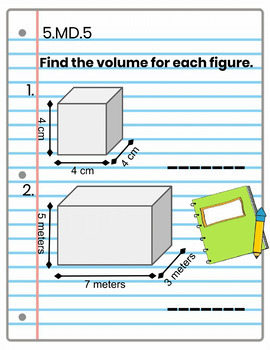 5th Grade Math Interactive Notebook: MD, Measurement & Data Interactive Notebook
