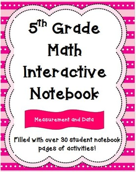 5th Grade Math Interactive Notebook: Measurement and Data