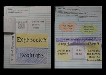 5th Grade Math Interactive Notebook: NBT and OA